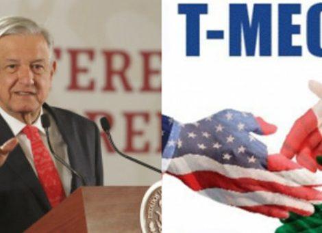 AMLO confía en que la ratificación del T-MEC