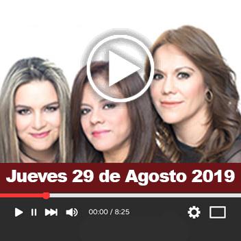 Programa Jueves 29 de Agosto 2019