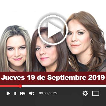 Programa Jueves, 19 de Septiembre 2019