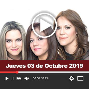 Programa Jueves 03 de Octubre 2019