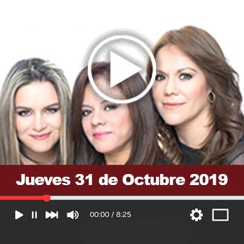 Programa Jueves 31 de Octubre de 2019