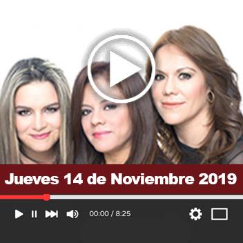Programa Jueves 14 de Noviembre 2019