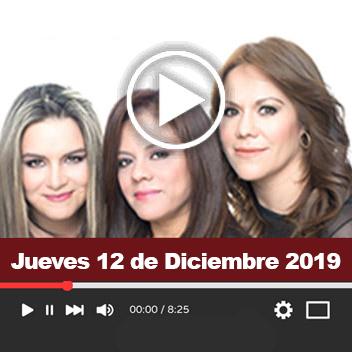 Programa Jueves 12 de Diciembre 2019
