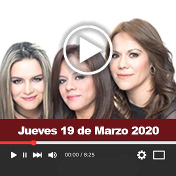 Programa Jueves 19 de Marzo 2020