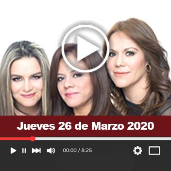 Programa Jueves 26 de Marzo 2020