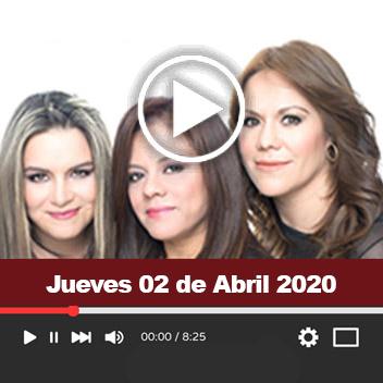 Programa Jueves 02 de Abril 2020