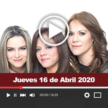 Programa Jueves, 16 de Abril 2020