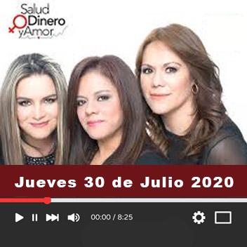 Programa Jueves, 30 de Julio 2020