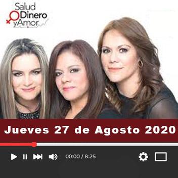 Programa Jueves, 27 de Agosto 2020